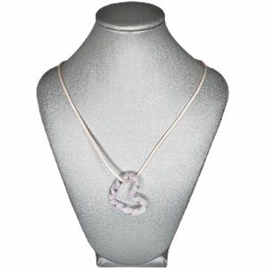 ARTSAN Necklace pink white floating heart
